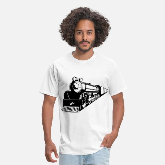Railway T-Shirts - Train Oncoming - Men's T-Shirt white