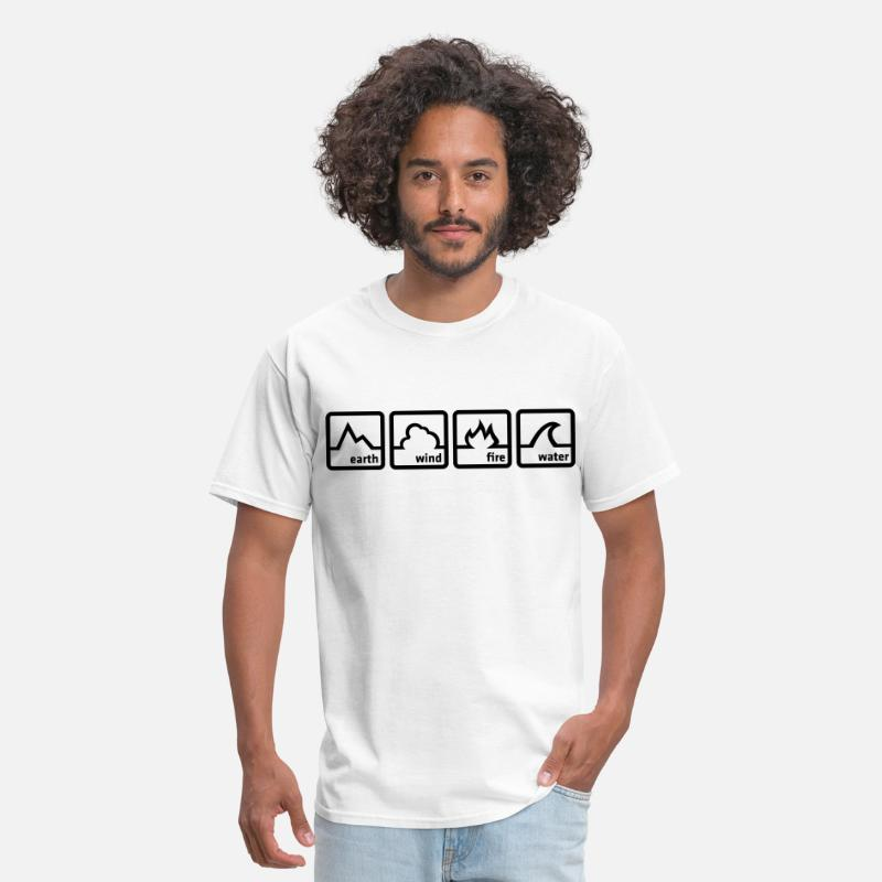 Air T-Shirts - Earth Wind Fire Water - Men's T-Shirt white