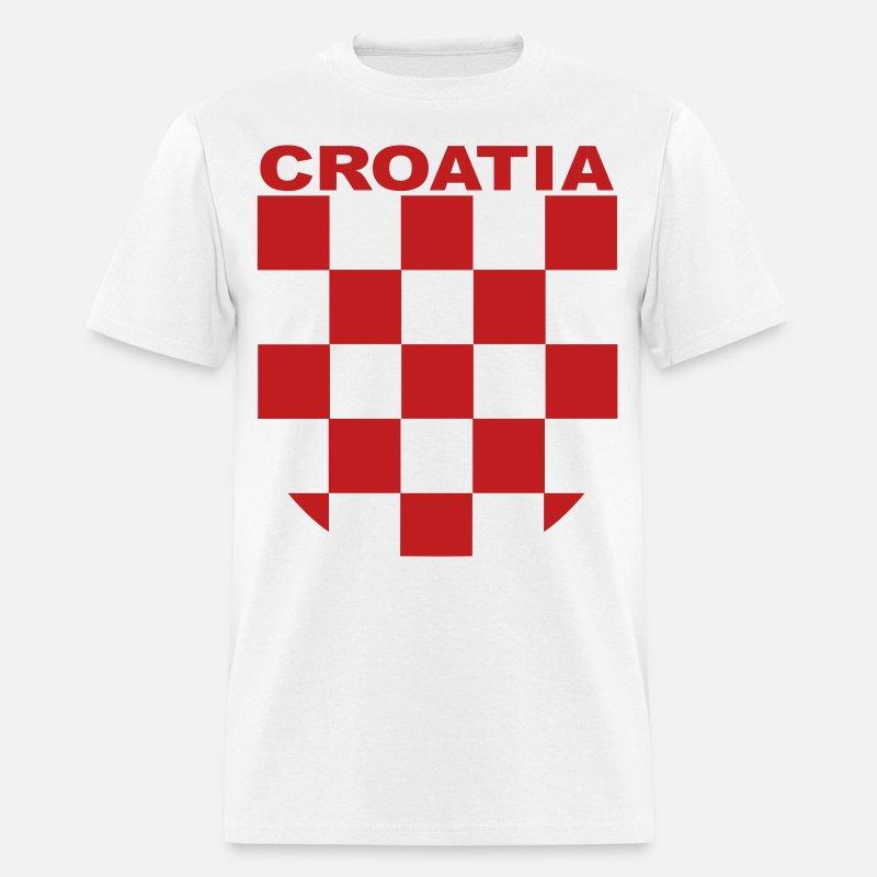 3704a2b5ce93 croatia sahovnica grb red, shirt white Men's T-Shirt | Spreadshirt