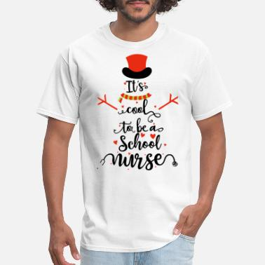 Medical Halloween it is cool to be a school nurse tree pharmacy medi - Men's T-Shirt