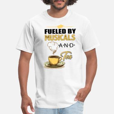 Anni FUELED BY MUSICALS AND TEA - Men's T-Shirt