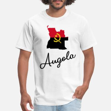 Angola Angola - Africa - National Colors - Map - Men's T-Shirt