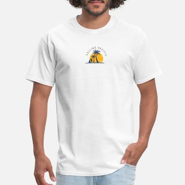 Pacific Beach Palm Tree by Sailing Pacific - Men's T-Shirt