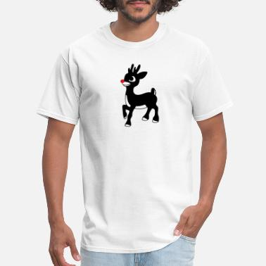 Reindeer 02 rudolph red nose reindeer xmas 01 - Men's T-Shirt