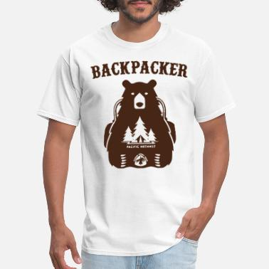 Funny Hike Backpacking Bear Funny Hiking Saying Gift For Hike - Men's T-Shirt