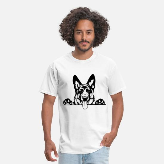 German T-Shirts - German Shepherd - Men's T-Shirt white