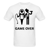 Menu0027s T-ShirtGAME OVER MENS GROOM BRIDE WEDDING GIFT PRESENT BO  sc 1 st  Spreadshirt & GAME OVER MENS GROOM BRIDE WEDDING GIFT PRESENT BO Menu0027s T-Shirt ...