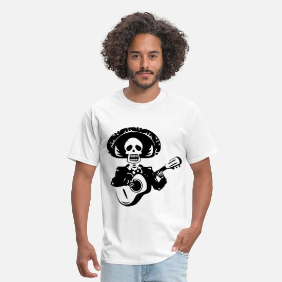 Mexico T-Shirts - Day of The Dead - Men's T-Shirt white