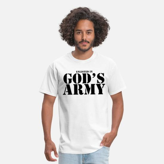 Army T-Shirts - GODS ARMY JESUS CHRISTIAN GOD RELIGION FUN christi - Men's T-Shirt white