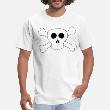 Maternity Halloween Iron on Skull and Crossbones Pirate Iron on Transf - Men's T-Shirt