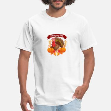 Blessed Life Thankful Thankgiving funny Turkey graphic print - Men's T-Shirt