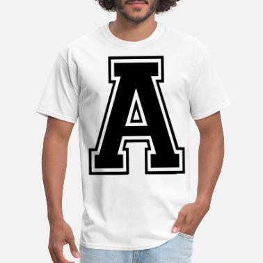 Alphabet Letter A - Men's T-Shirt