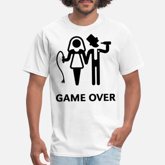 880a34c3 GAME OVER MENS GROOM BRIDE WEDDING GIFT PRESENT BO Men's T-Shirt ...