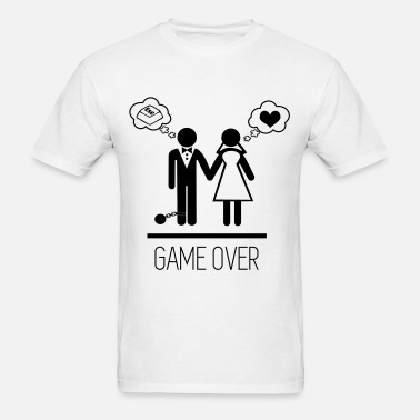 9799667a game over marriage funny - couples Men's T-Shirt | Spreadshirt