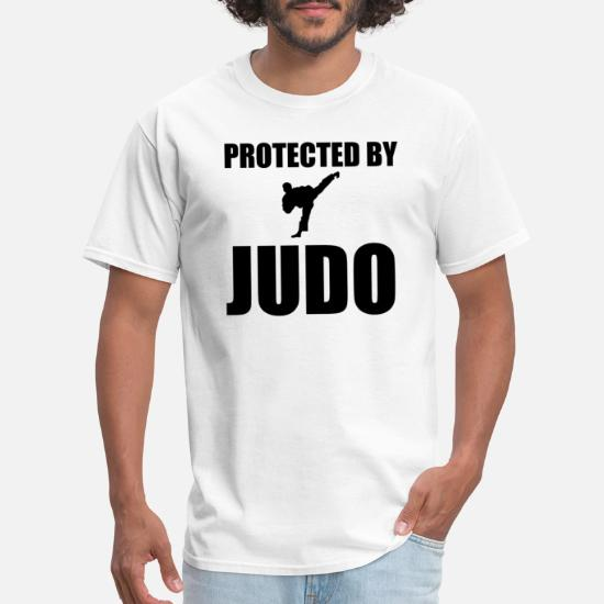 061e187b5 Belt T-Shirts - Protected By Judo Funny Martial Arts - Men's T-Shirt.  Customize