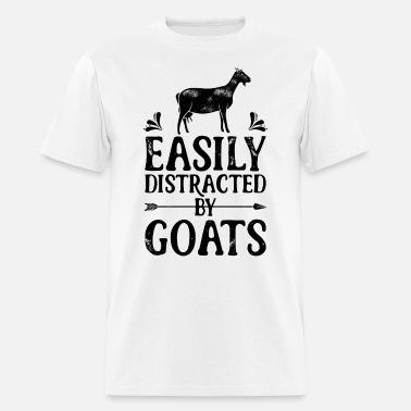 088068d09 Easily Distracted By Goats T shirt Cow Farmer Men's Premium T-Shirt ...