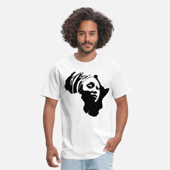 If Youre Happy And You Know It T-shirts T-Shirts - Mama African Continent Melanin mama t Shirts - Men's T-Shirt white