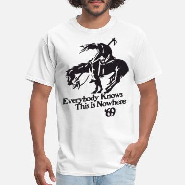 Young Neil Young And Crazy Horse Rock End Of The Trail c - Men's T-Shirt