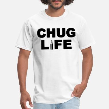 womens chug life funny drinking beer novelty graph - Men's T-Shirt