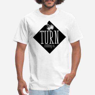 White Label Designer Turn Clothing Co tshirt sticker design white text - Men's T-Shirt