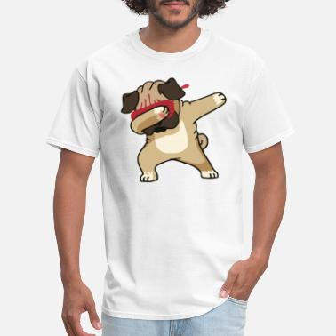 Pug Cute Dabbing Dabbing Pug Cute Dog - Men's T-Shirt