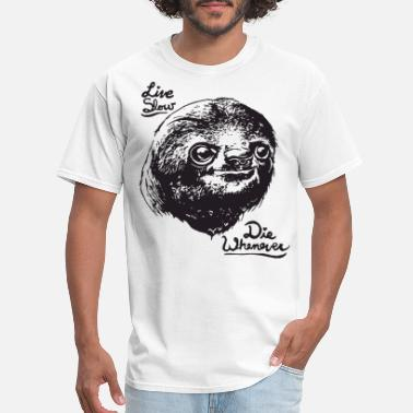 084d4d7f36d Big And Tall Live Slow Die Whenever Sloth hip hop T Shirts - Men'
