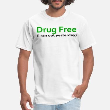 Maps Drug Free Funny Weed College Humor Stoner Novelty - Men's T-Shirt