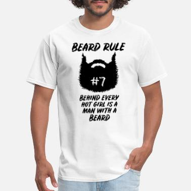 Ruler Beard Barber Barbier Beard Rule Funny Quote Style - Men's T-Shirt