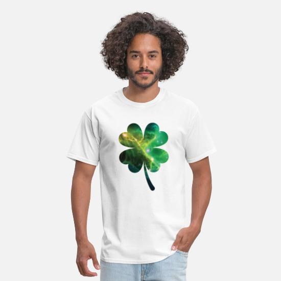 Shamrock T-Shirts - Cloverleave T-Shirt space St Patricks Day Shirt - Men's T-Shirt white
