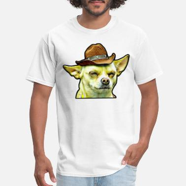 Dog Cow Dog in cow boy style - Men's T-Shirt