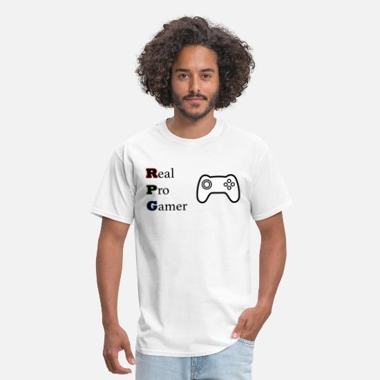 Video Game Tshirts T-Shirts - RPG - REAL PRO GAMER Unique Gaming Design - Men's T-Shirt white