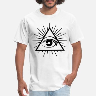 Fuck Illuminati ALL SEEING EYE Printed Conspiracy Illuminati Cult - Men's T-Shirt