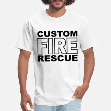 Firefighter Duty Fire Rescue Custom Duty Firefighter - Men's T-Shirt