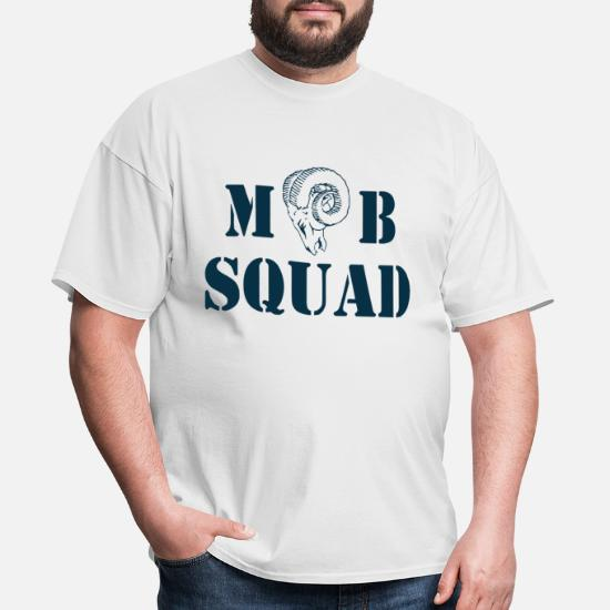 4765a6b69 Squad T-Shirts - St Louis Rams MOB SQUAD Grey - Men's T-Shirt. Customize