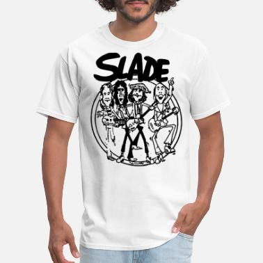 70s SLADE BAND GLAM HARD ROCK 70s RETRO CARTOON VINTAG - Men's T-Shirt