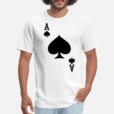 Fucking Ace Ace of Spades Playing Card Halloween Costume Game - Men's T-Shirt