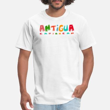 Antigua Antigua - Caribbean Souvenir Design - Men's T-Shirt