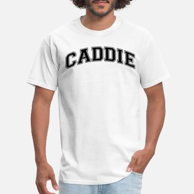 Caddy caddie college style curved logo - Men's T-Shirt