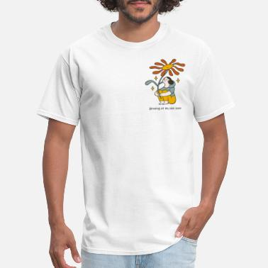 Pace Growing At My Own Pace Orange Flower - Men's T-Shirt