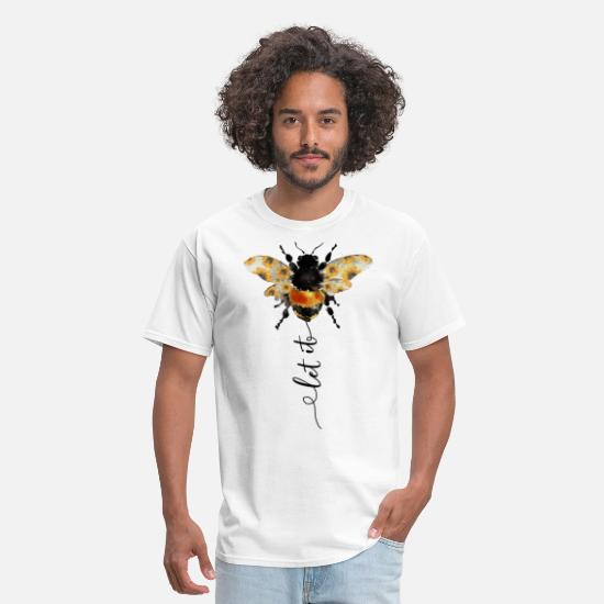 Let T-Shirts - Let It Bee Funny T-shirt - Men's T-Shirt white