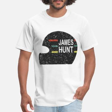 Hunt James Hunt Helmet Tee by Hunziker hunt - Men's T-Shirt