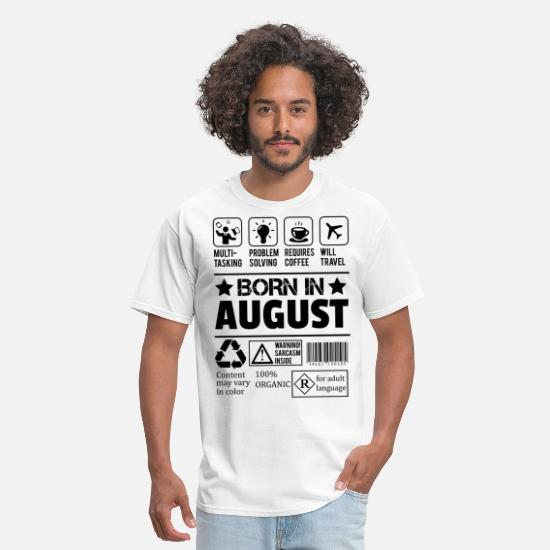 August T-Shirts - Born In August - Men's T-Shirt white