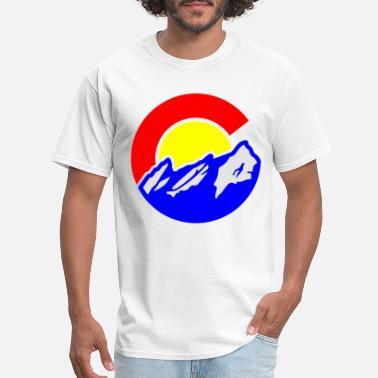High Colorado Colorado Flatirons Sticker colorado - Men's T-Shirt