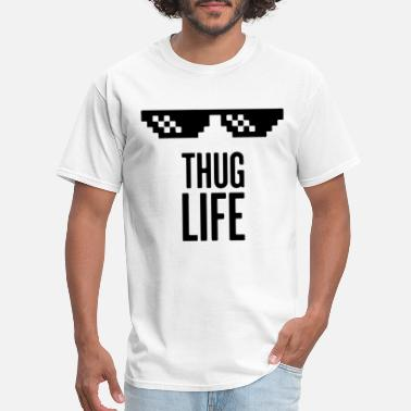 Internet Phenomenon Thug Life black shirt men or women geek computer - Men's T-Shirt