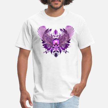 Purple Skull purple winged chrome skull - Men's T-Shirt