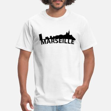 France Skyline Arc Skyline Of Marseille France - Men's T-Shirt