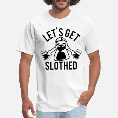 Sloths Beer Yoga Clothes Party Sloth Wine Sloth - Men's T-Shirt