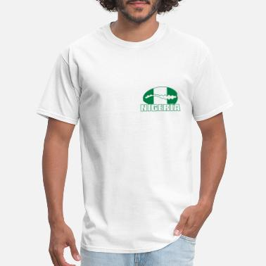 Minna Nigeria national flag cauri on white - Men's T-Shirt