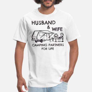 Camping Husband and wife camping partners for life tshirt - Men's T-Shirt