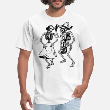 Day Of The Dead Skeletons Dancing Day Of Dead Dia De Los - Men's T-Shirt